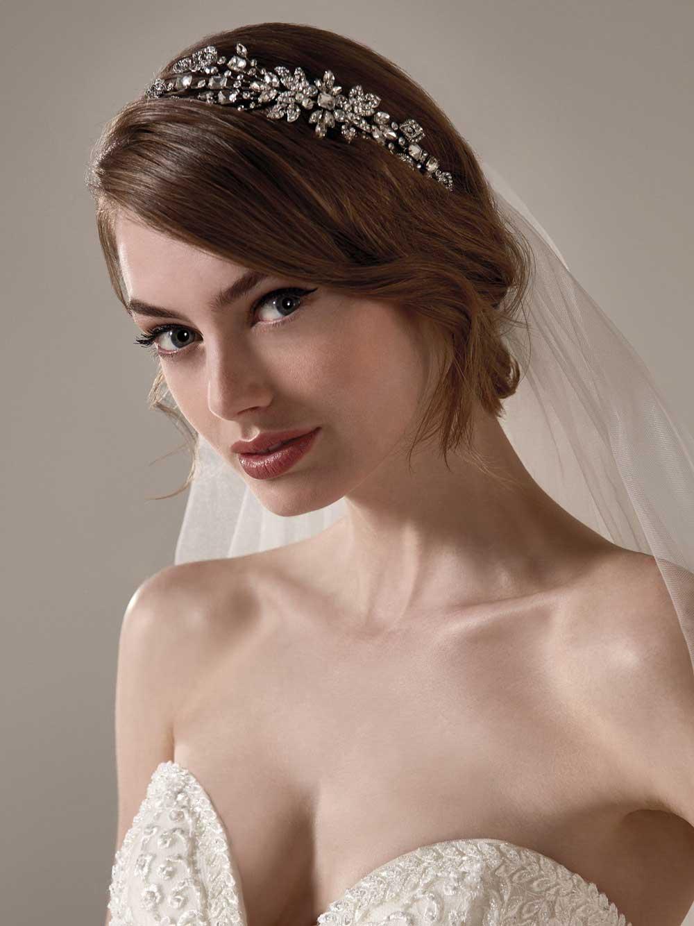 tiara de novia de diamantes