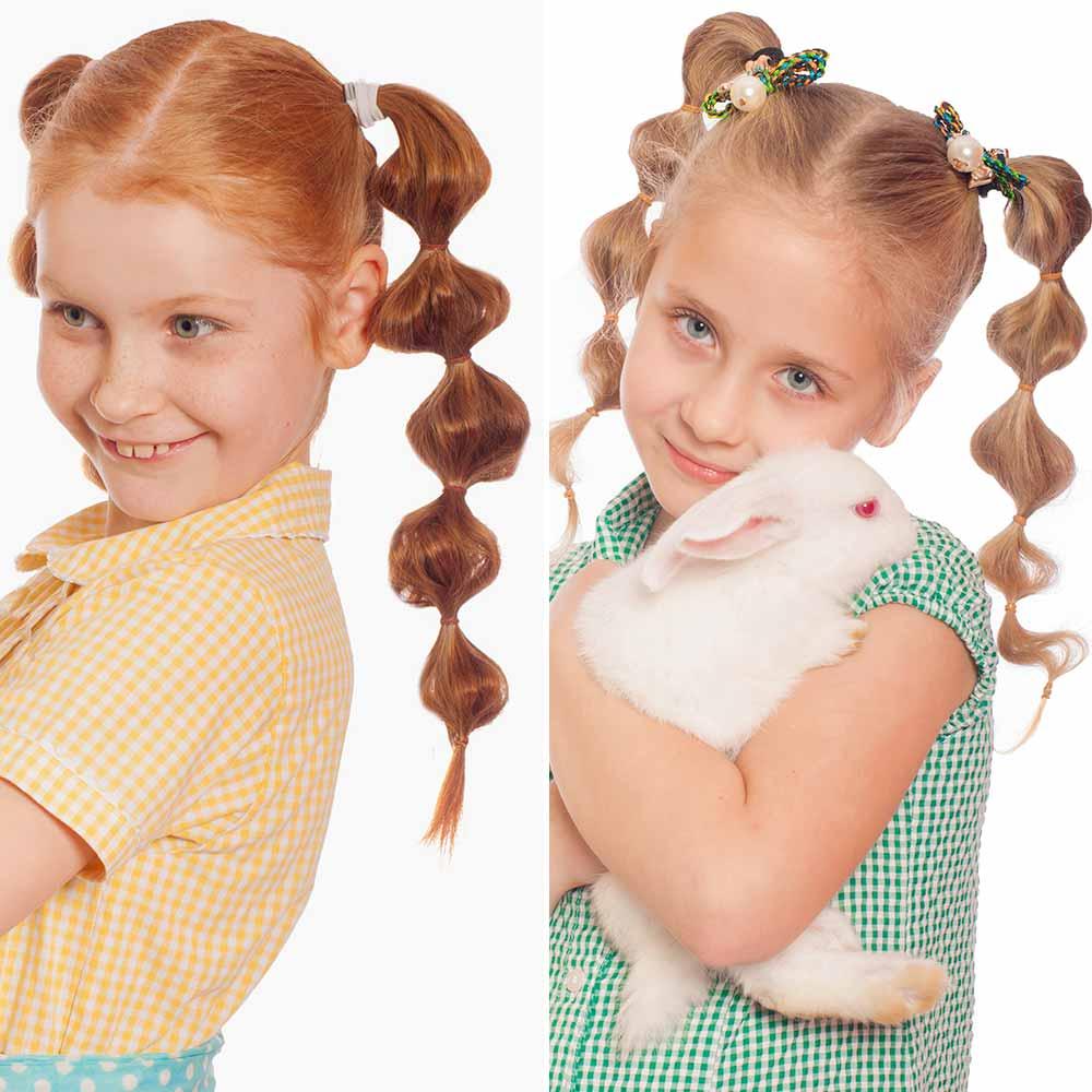 Peinados para niñas con elástico