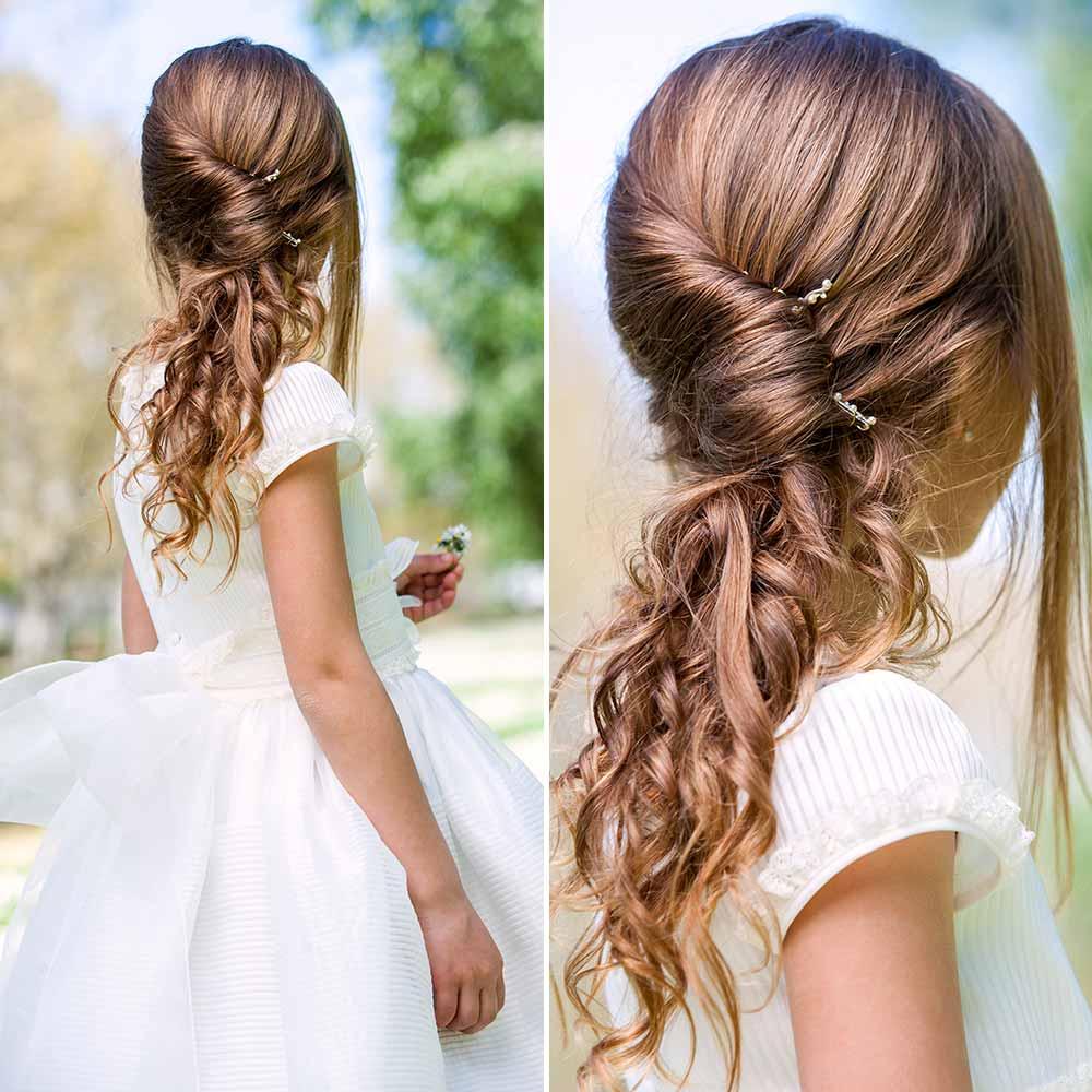 Peinado común niña