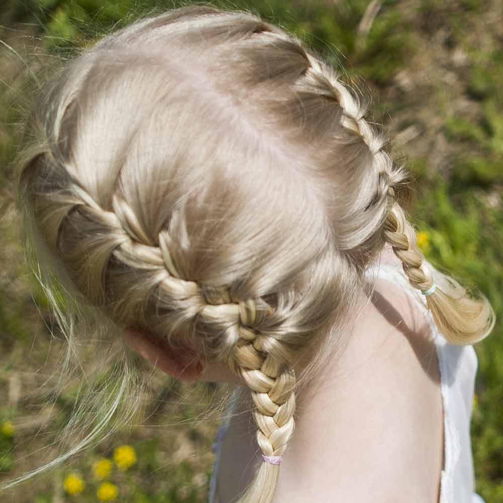 Peinados niñas trenzas pelo corto