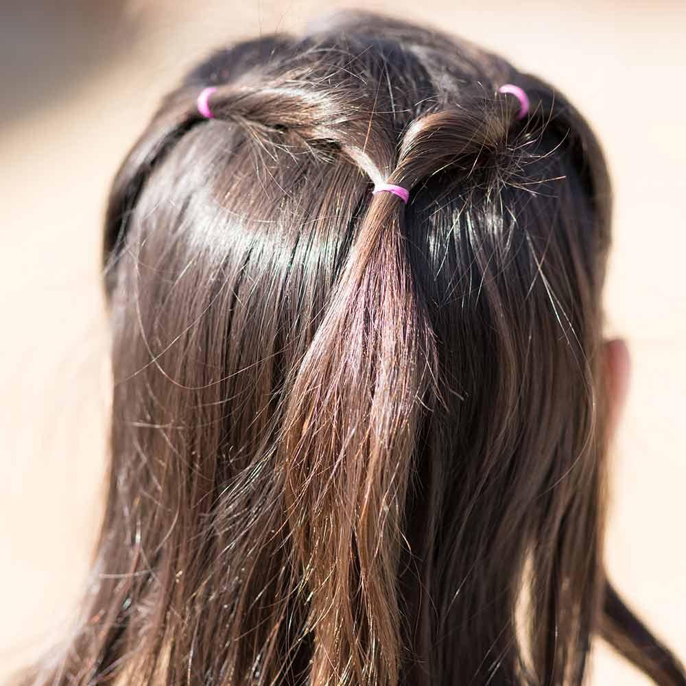 Peinado fácil y rápido para una niña