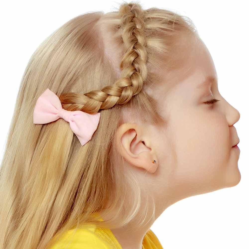 Peinados niñas pelo medio