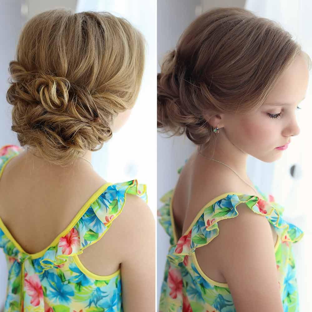 Peinados niña pelo medio