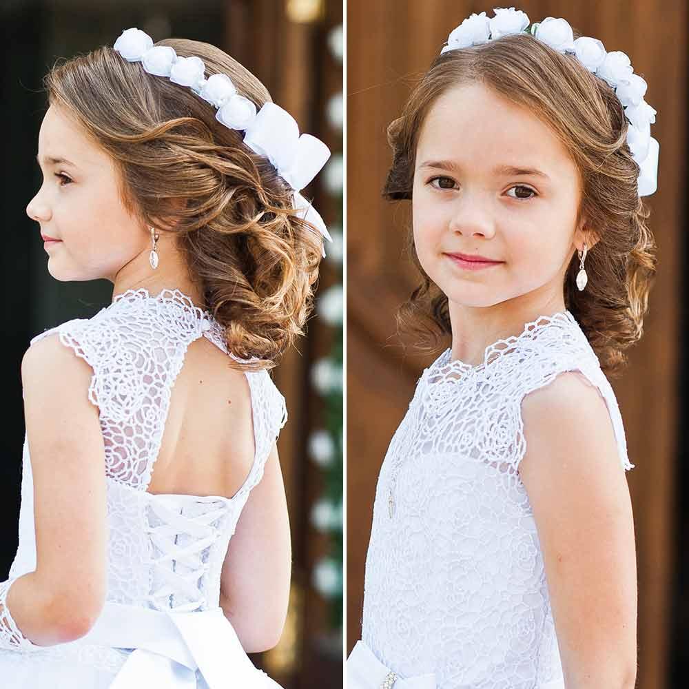Peinados de dama de honor de niña