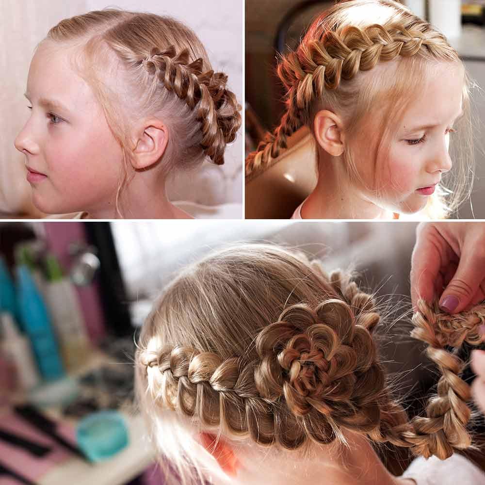 Peinados de niña con trenzas