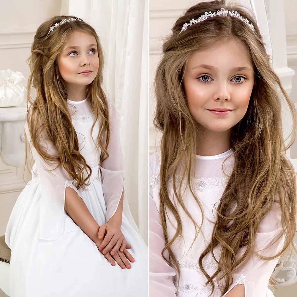 Peinado de dama de honor de niña