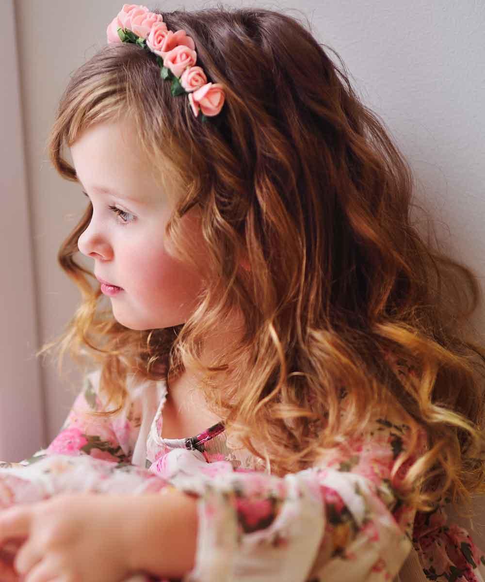 Peinado corona niña