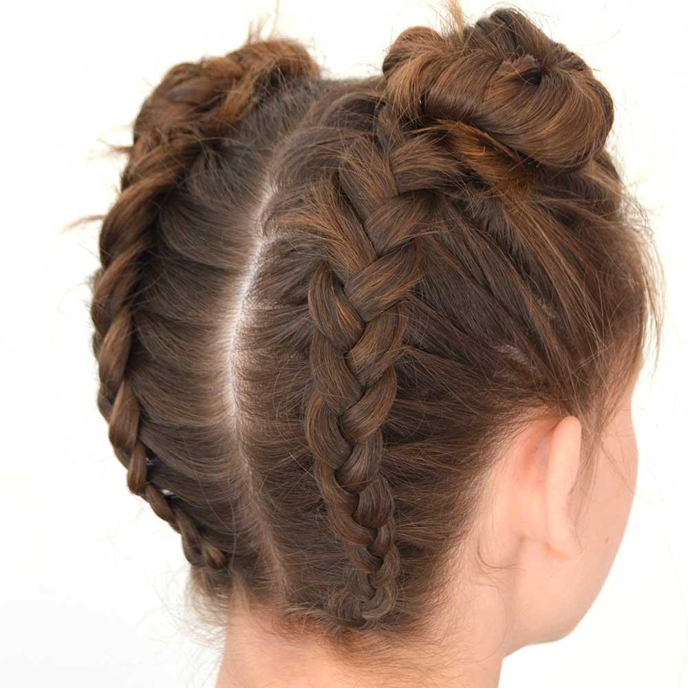 Peinado de pelo largo de niña