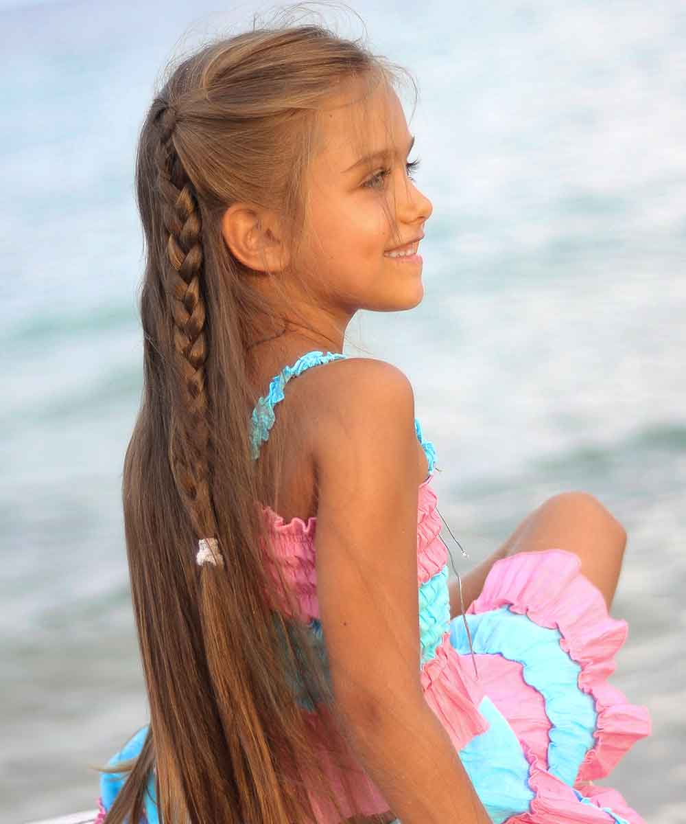 peinados niñas pelo largo