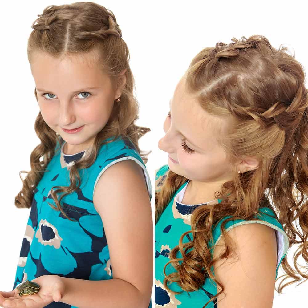 Peinados de niña pelo largo