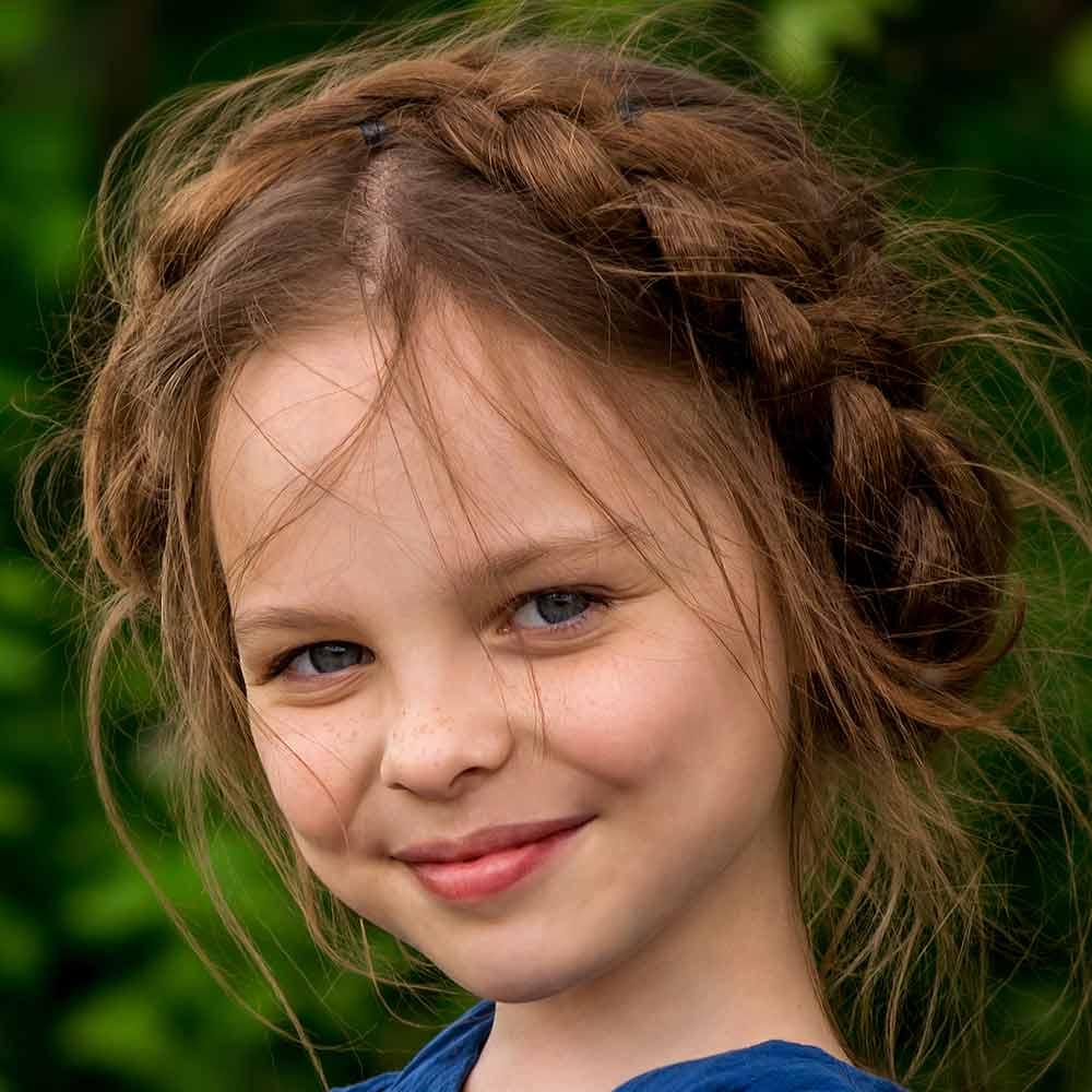 Peinado niña trenza