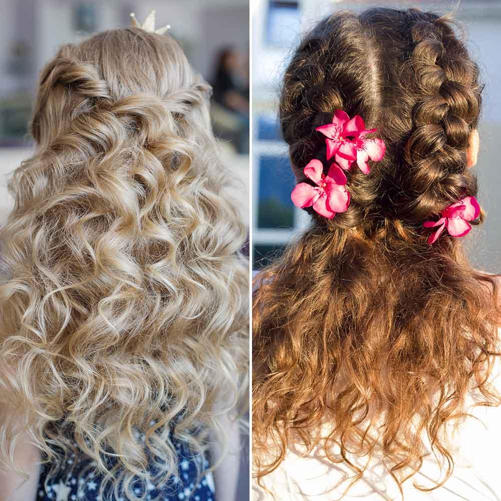 Peinados niña pelo rizadosemiraccolto