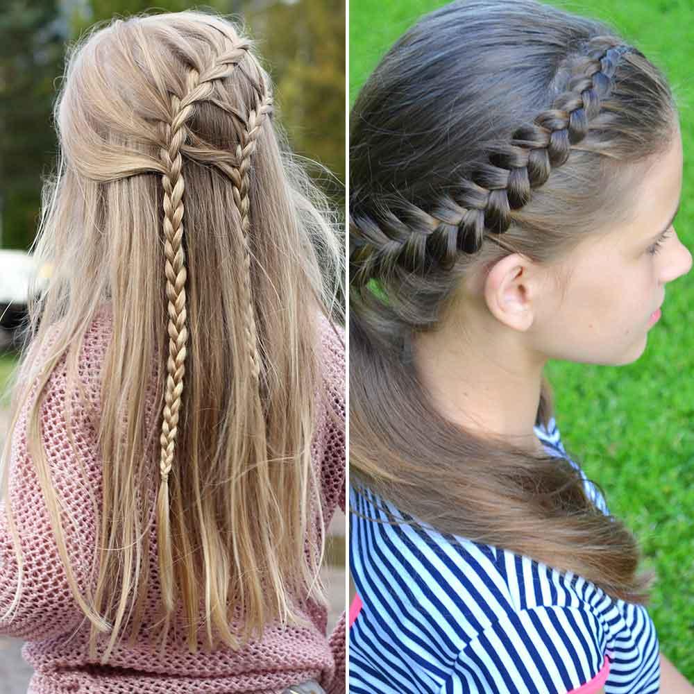 Peinados niñas pelo lisotrecce