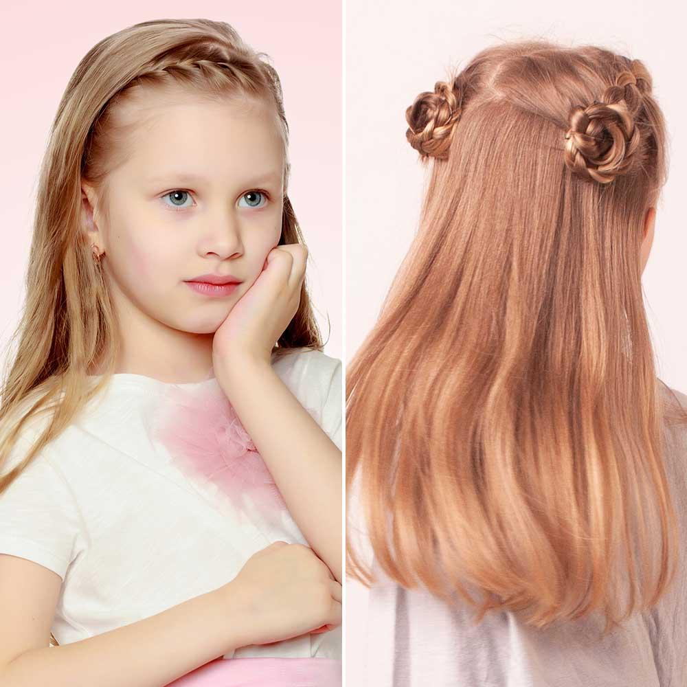 Peinados niñas pelo liso