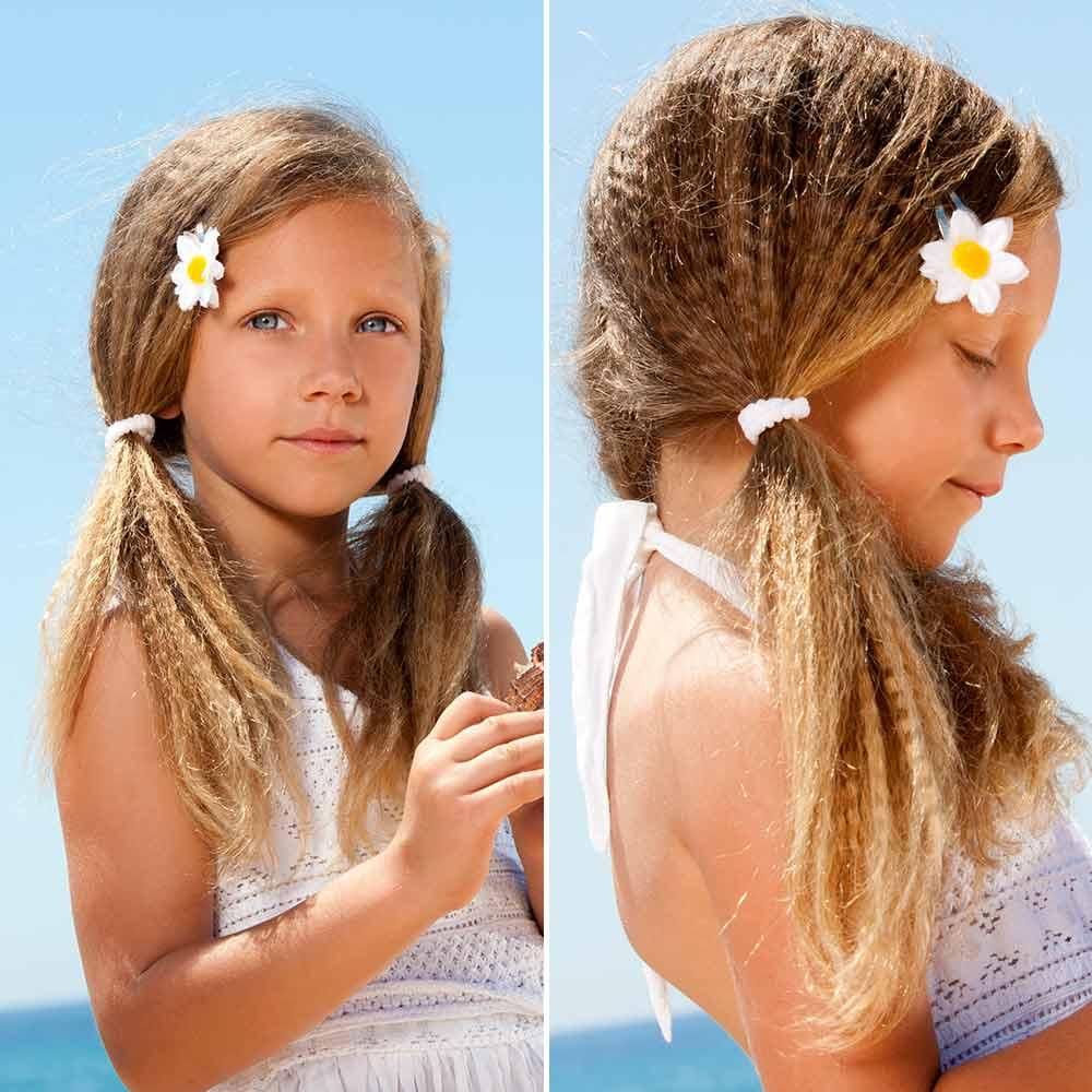 Sencillo peinado de niña