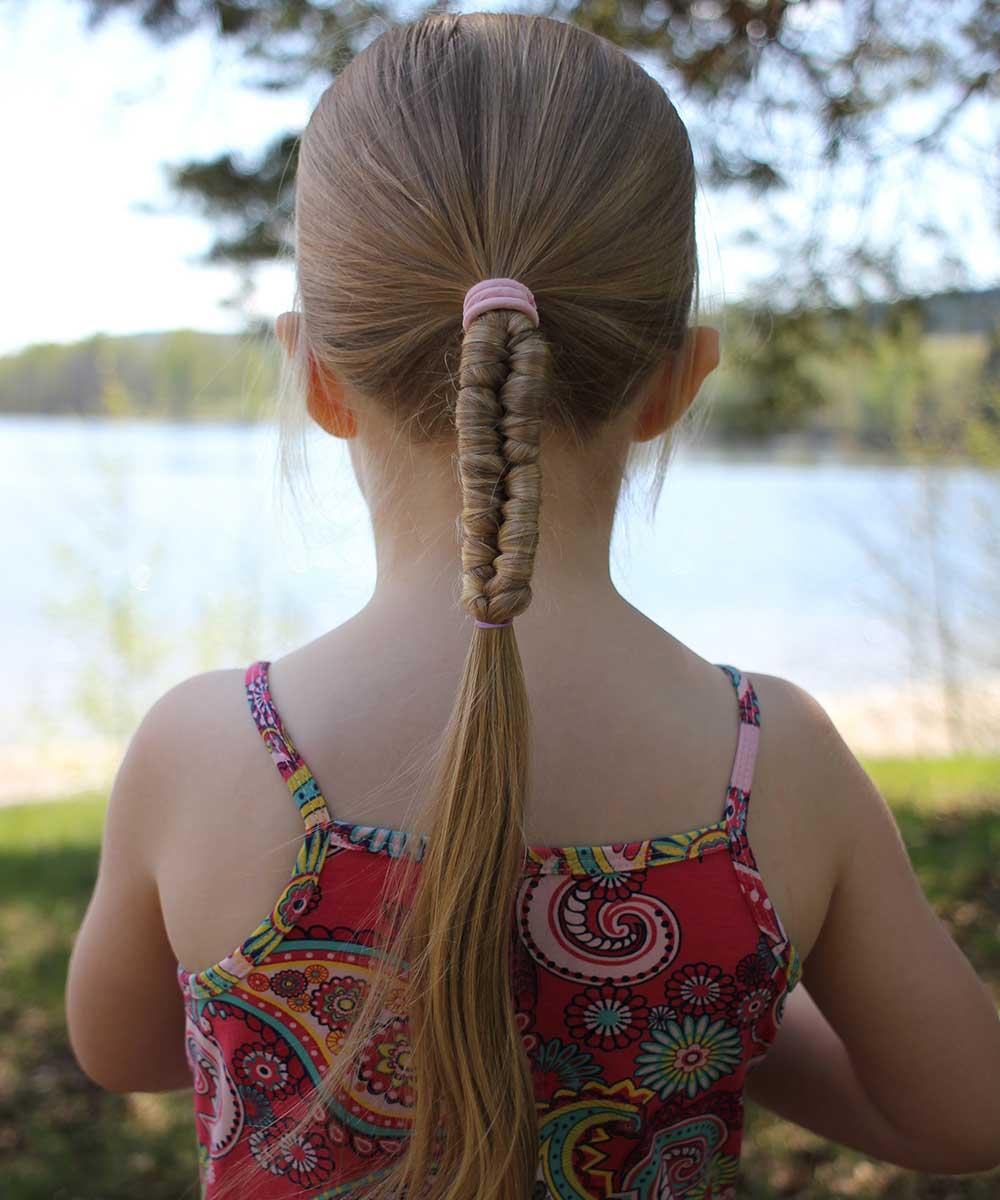 Peinados para niñas con elásticotreccia
