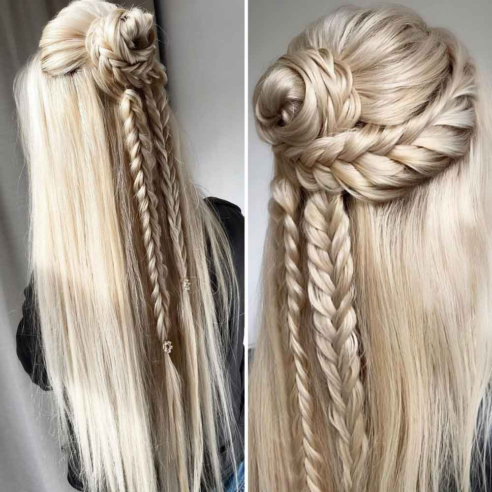 Trenzas pelo largo y liso