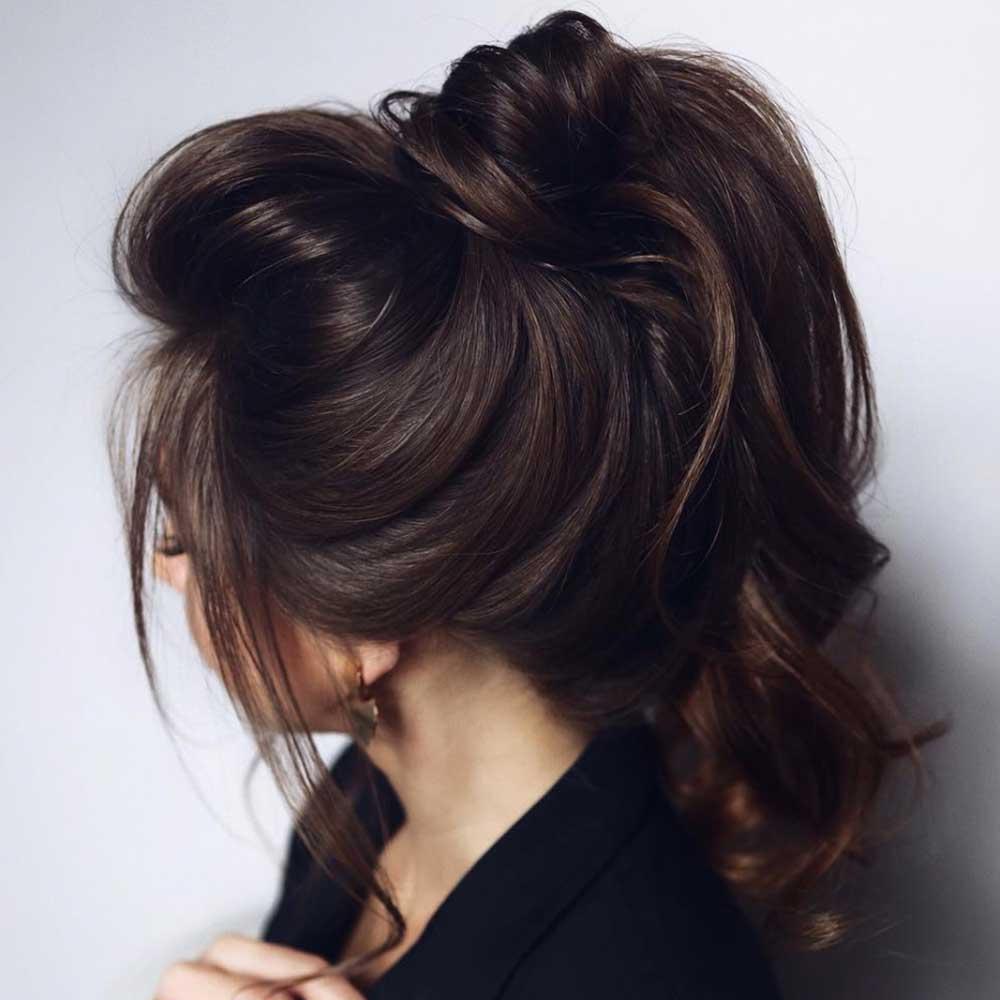 Peinado con cola suave