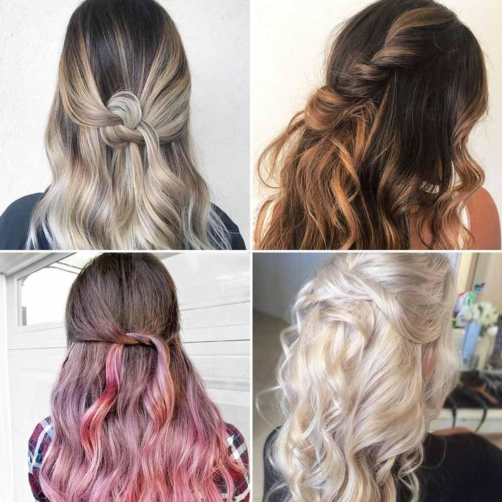 Peinados de pelo largo suelto
