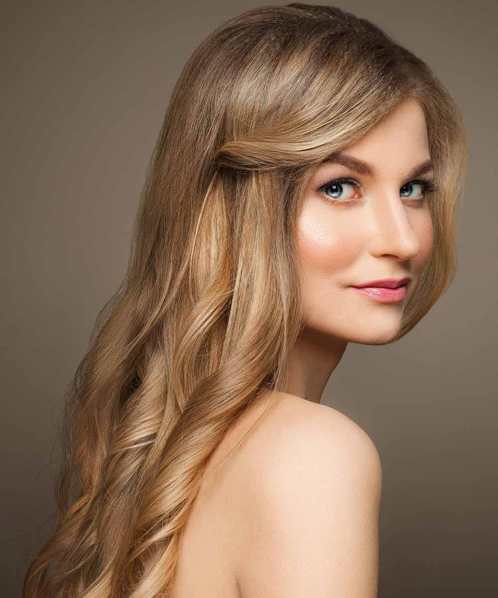 Peinado sencillo para pelo largo suelto