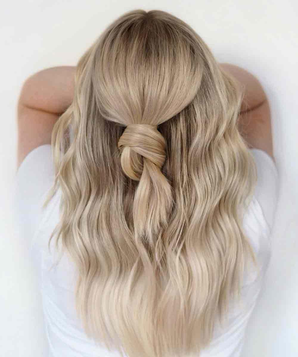 Peinado pelo largo suelto