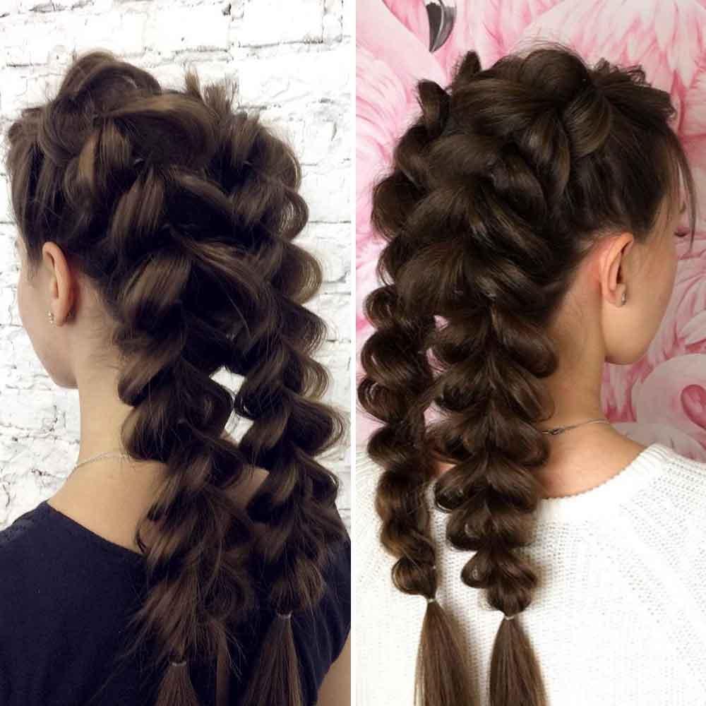 Hermosos peinados elásticos