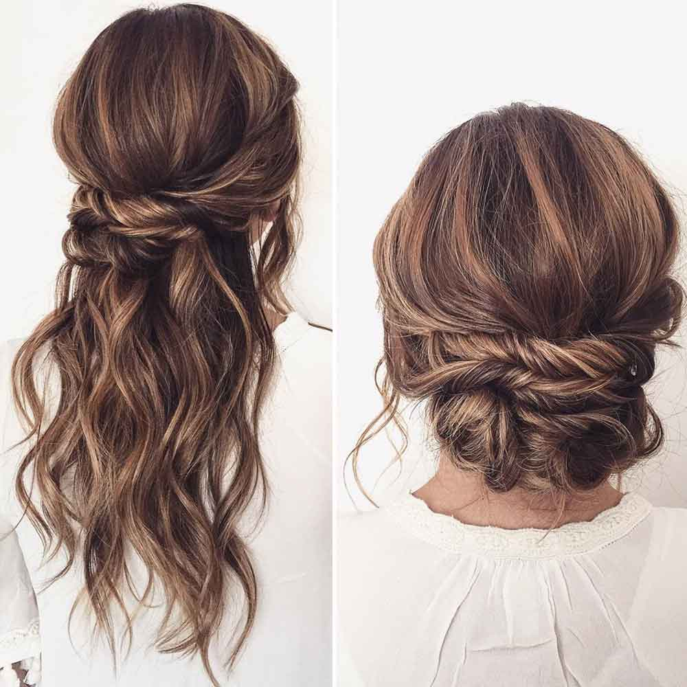 Peinados de pelo largo recogidos