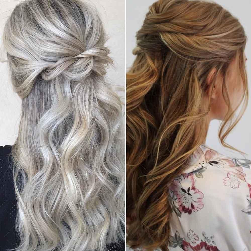 Peinado sencillo para cabello largo