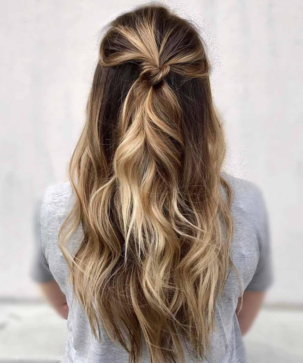 Peinado fácil para pelo largo