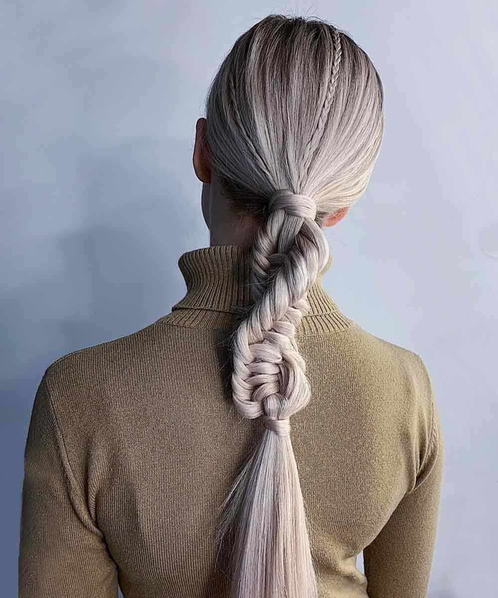 Original trenza de pelo largo