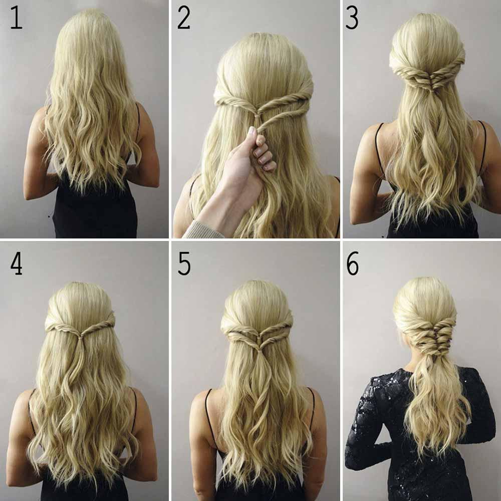Peinados de pelo largo diy