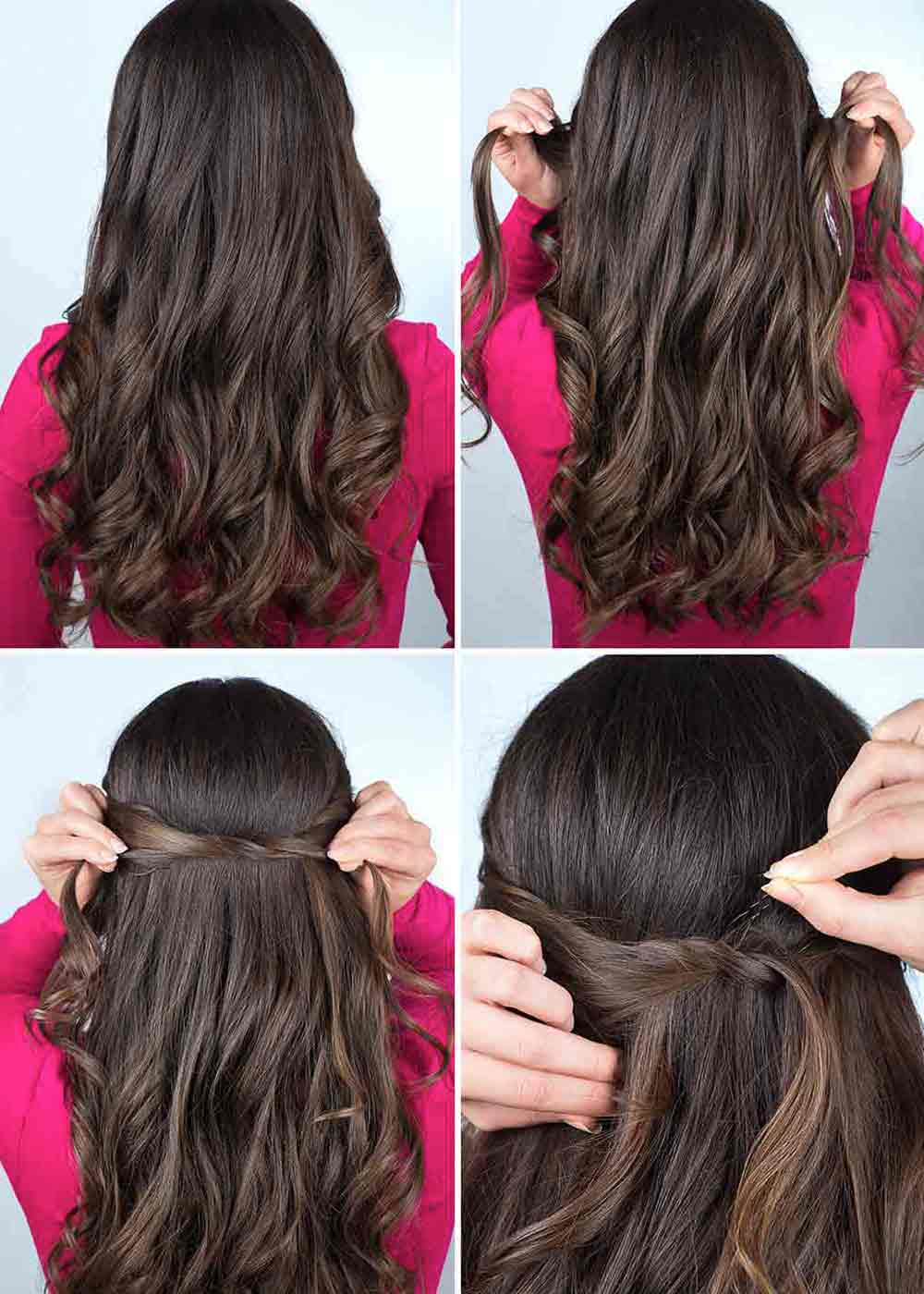 Peinado de pelo rizado