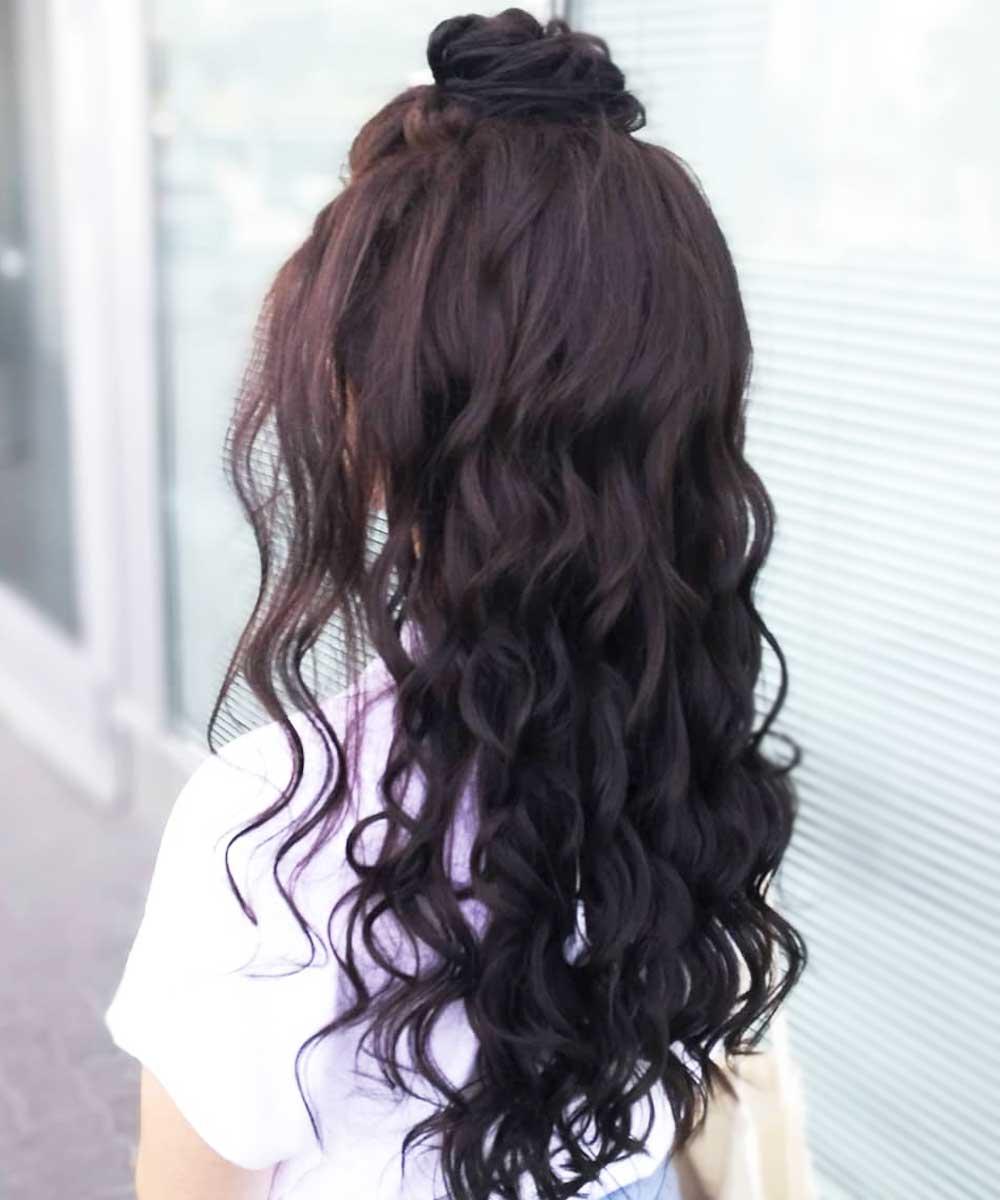 Peinados sencillos para pelo rizado