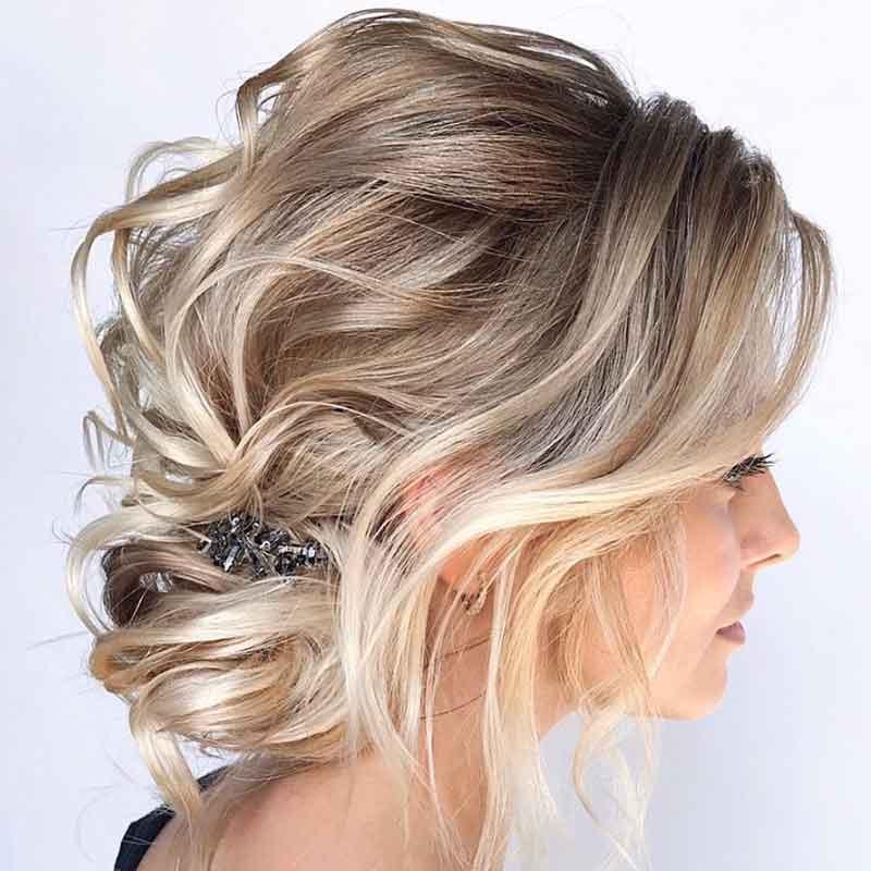 Peinados de boda con el pelo recortado
