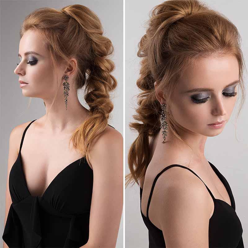 Peinados de cola para invitados de boda