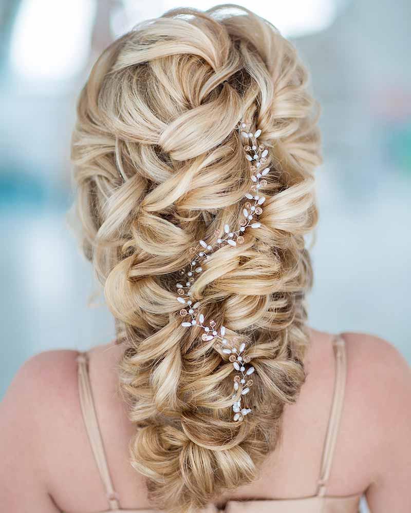 Peinados de boda semirredondos
