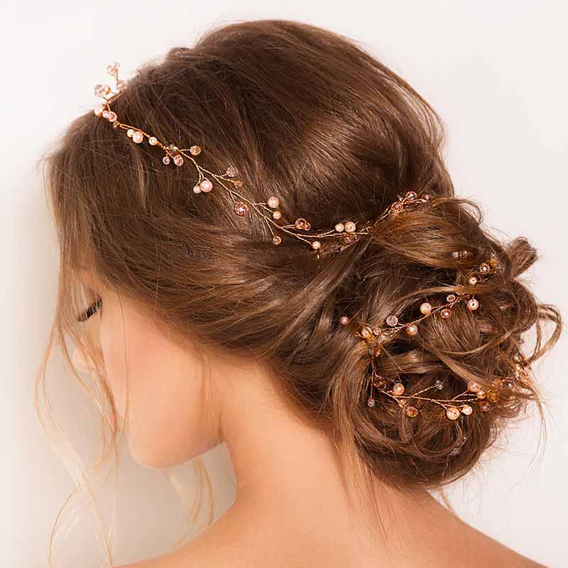 Elegante peinado de boda