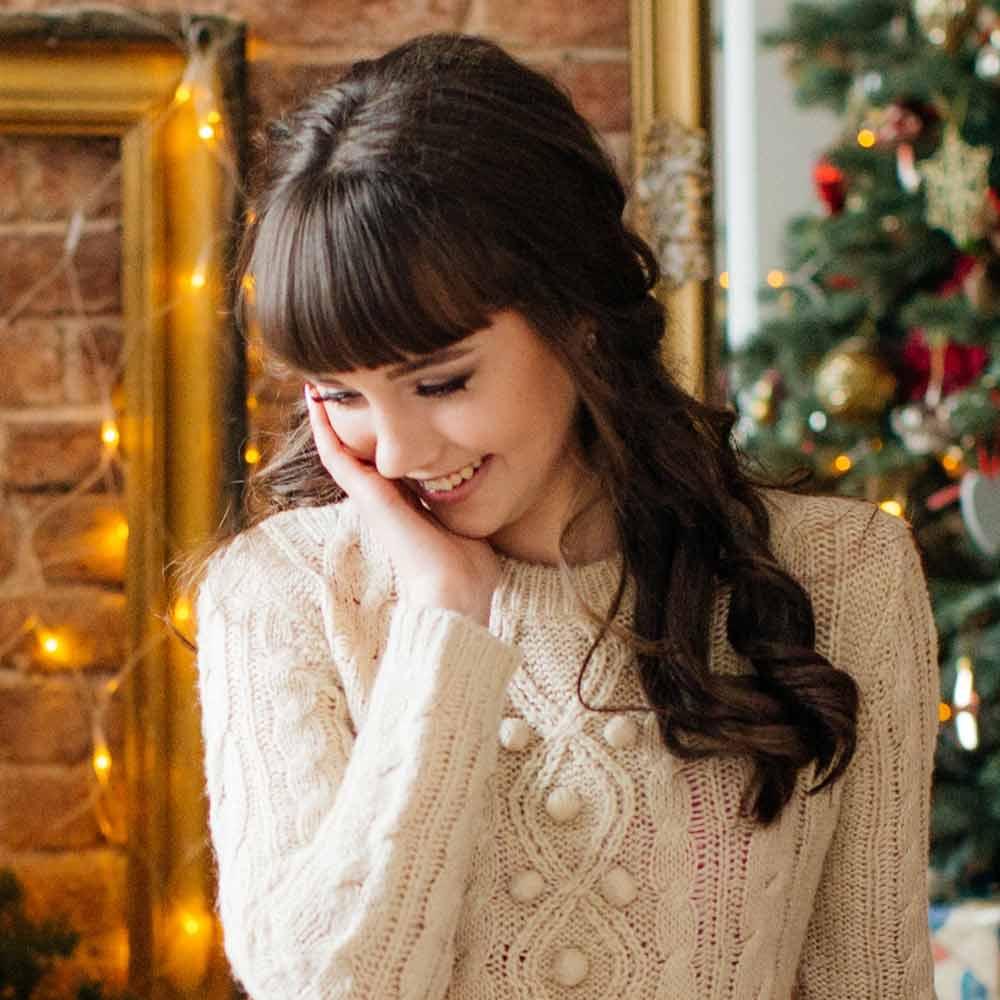 Peinados de navidad semirecogidos