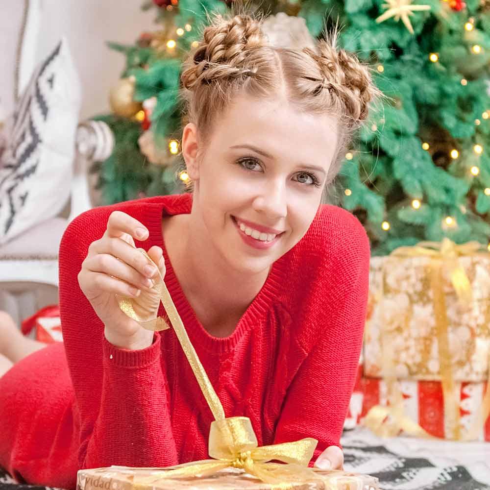 Peinado de Navidad con moño