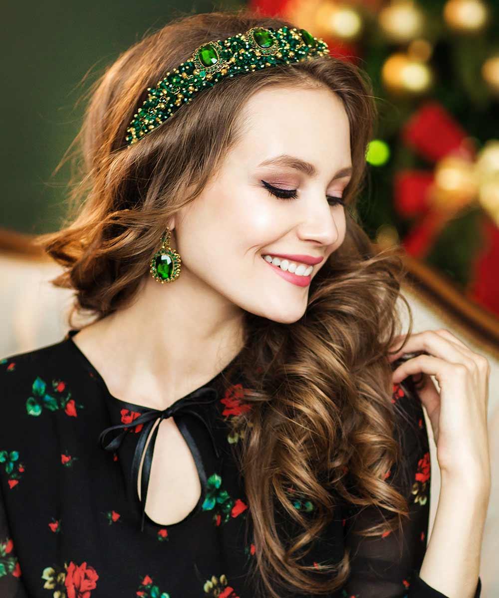 Peinados de Navidad rizos ondulados