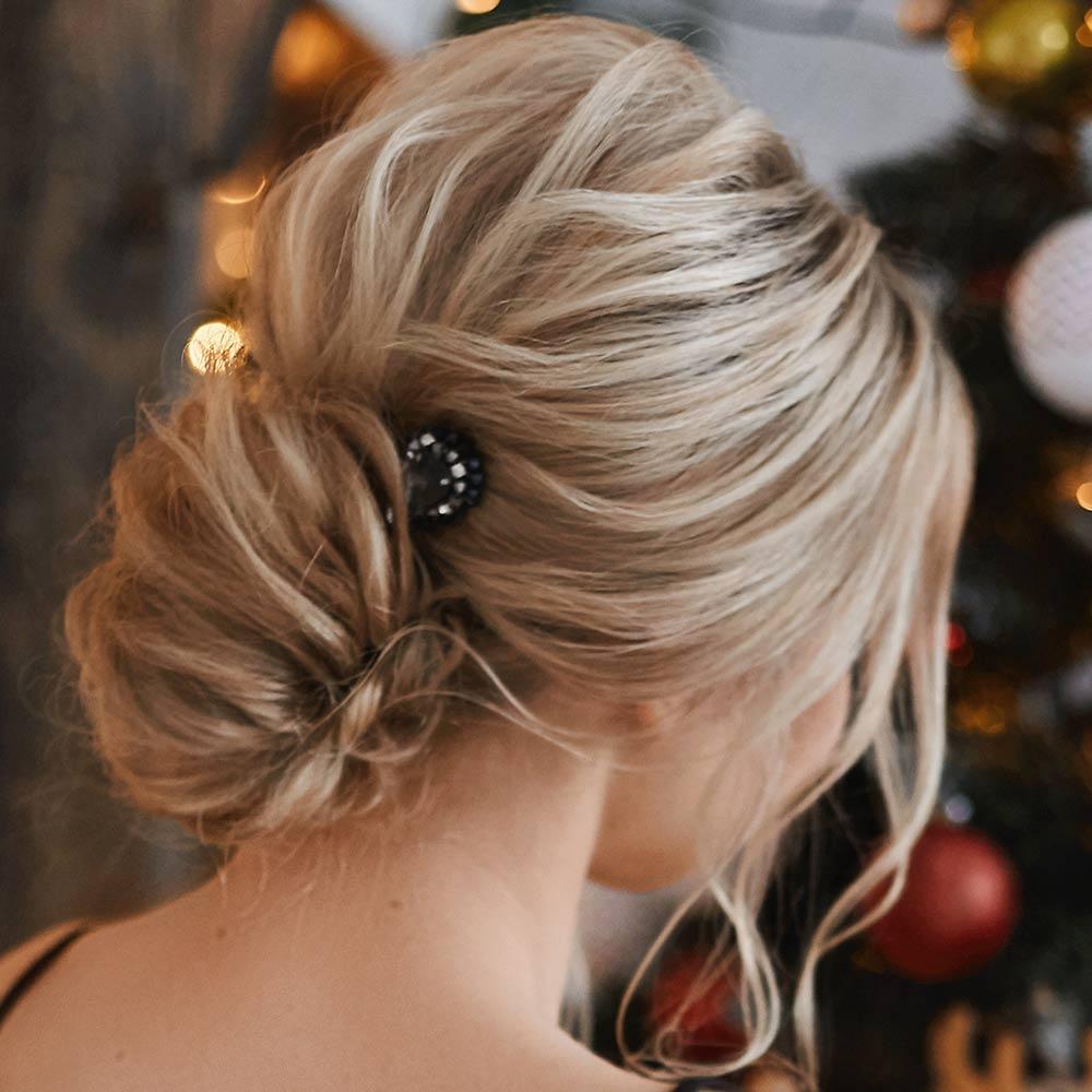 Peinados sencillos de Navidad recogidos