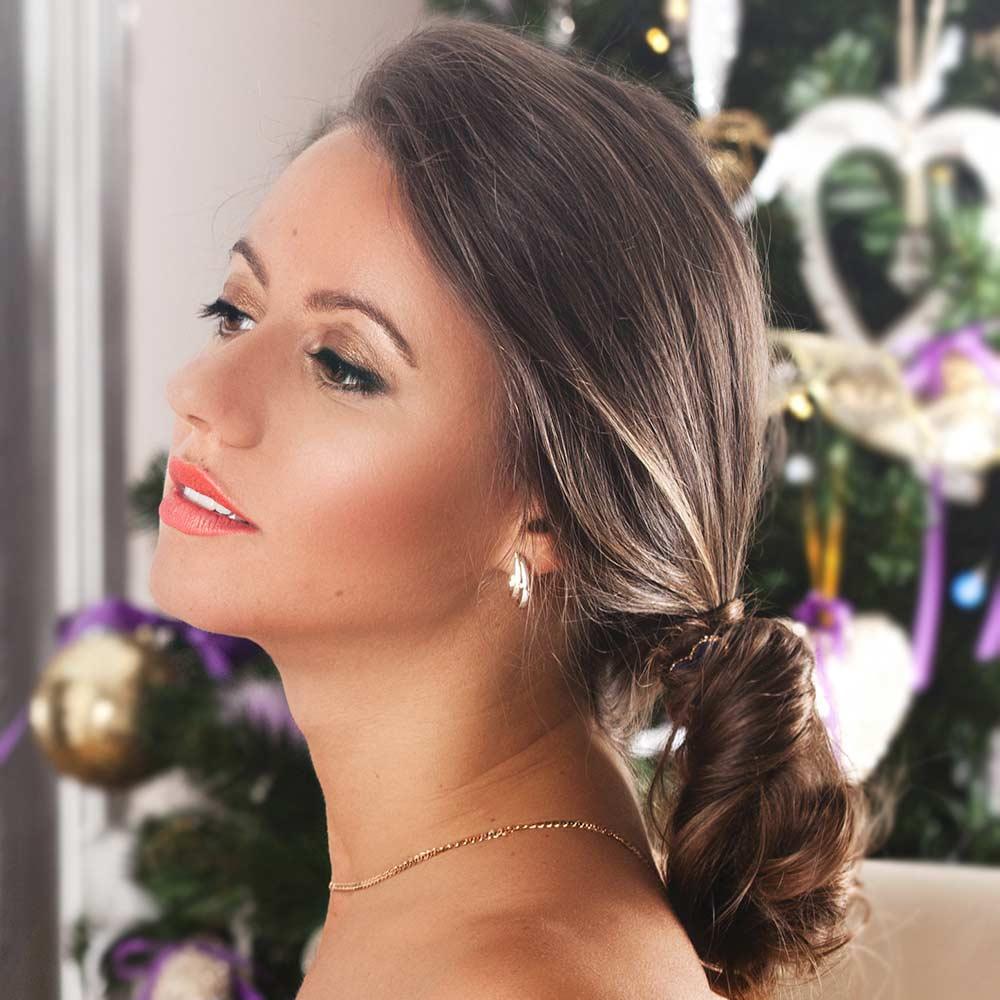 Navidad peinados sencillos cola de pelo