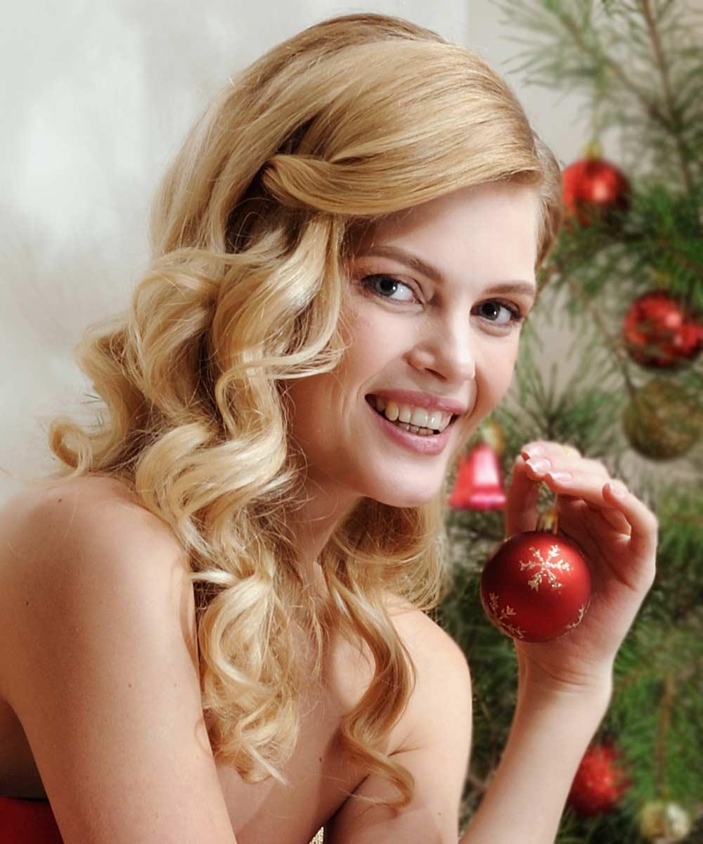 Peinado de Navidad sencillo