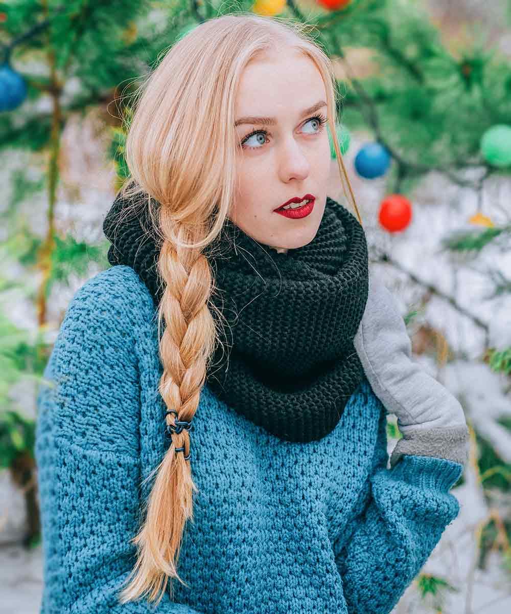 Navidad peinados sencillos trenza de pelo