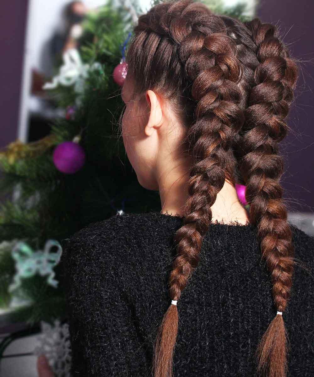 Peinados de Navidad con trenzas