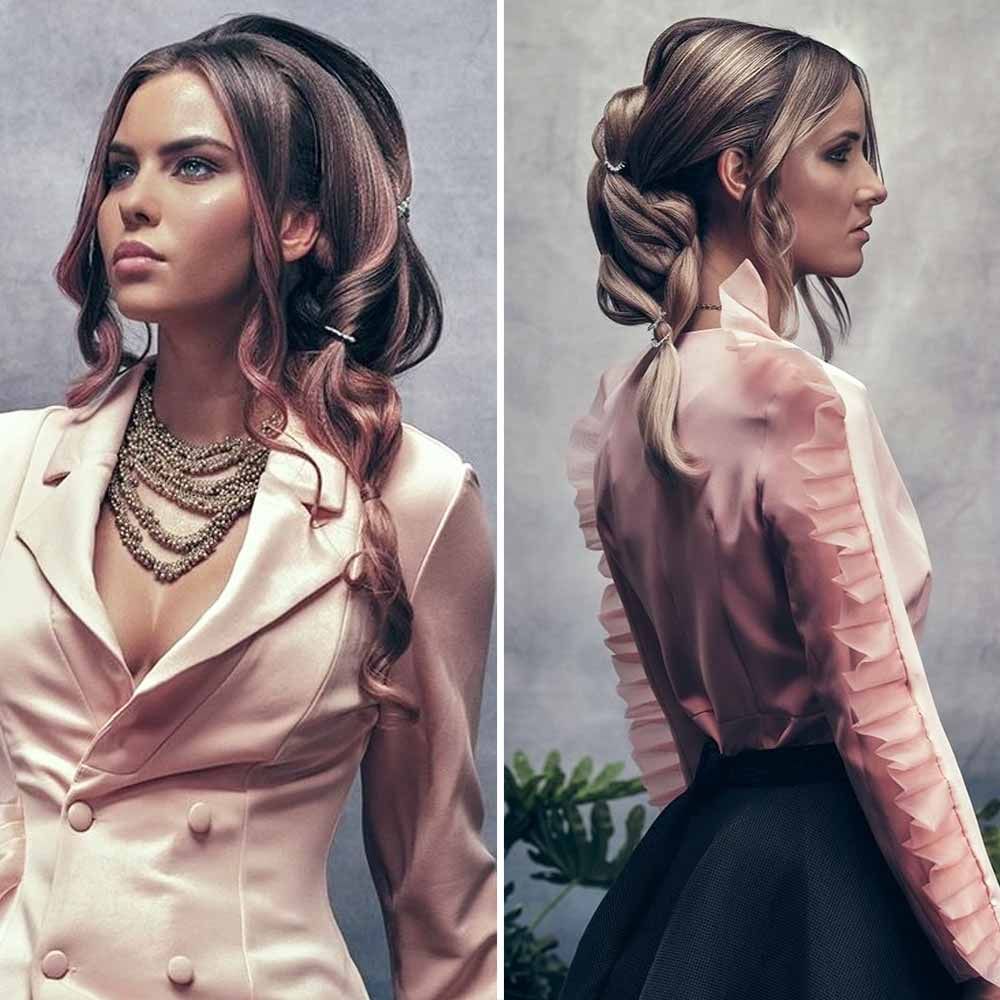 Elegantes peinados recogidos primavera verano 2021