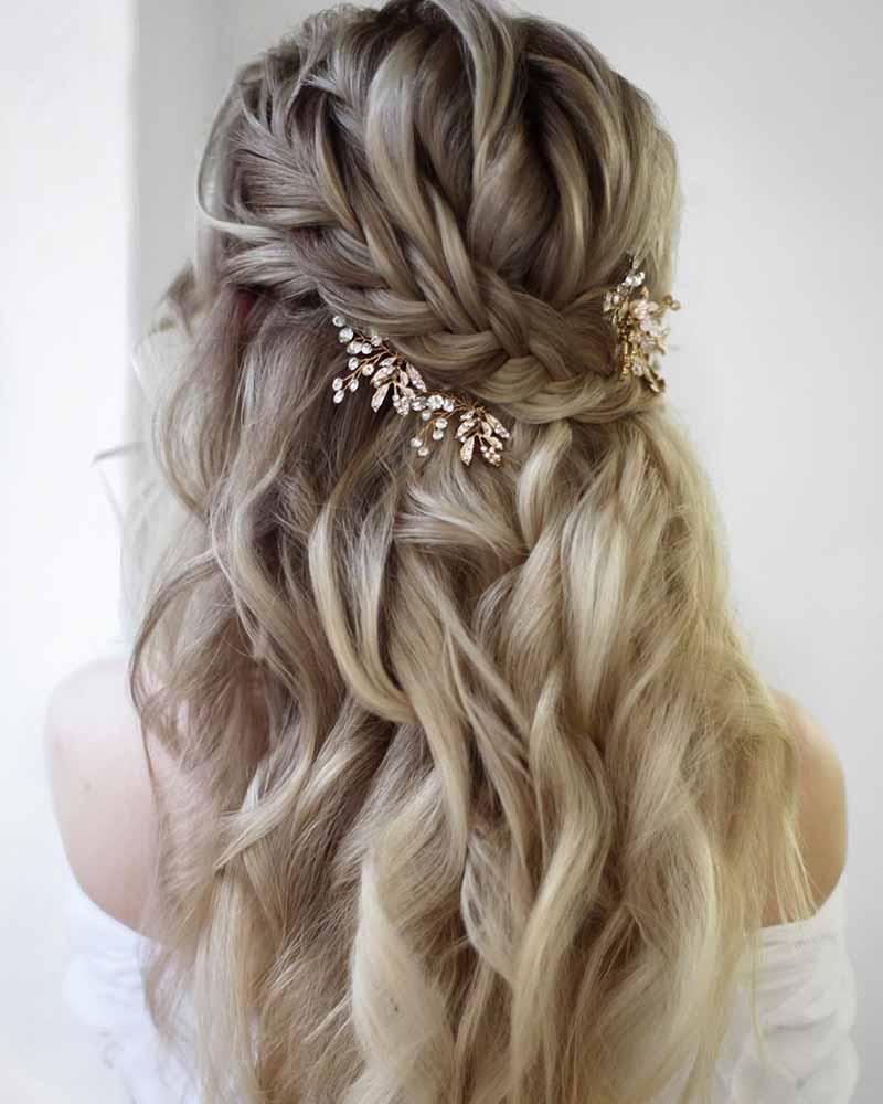 Peinados de semiboda trenzas de novia