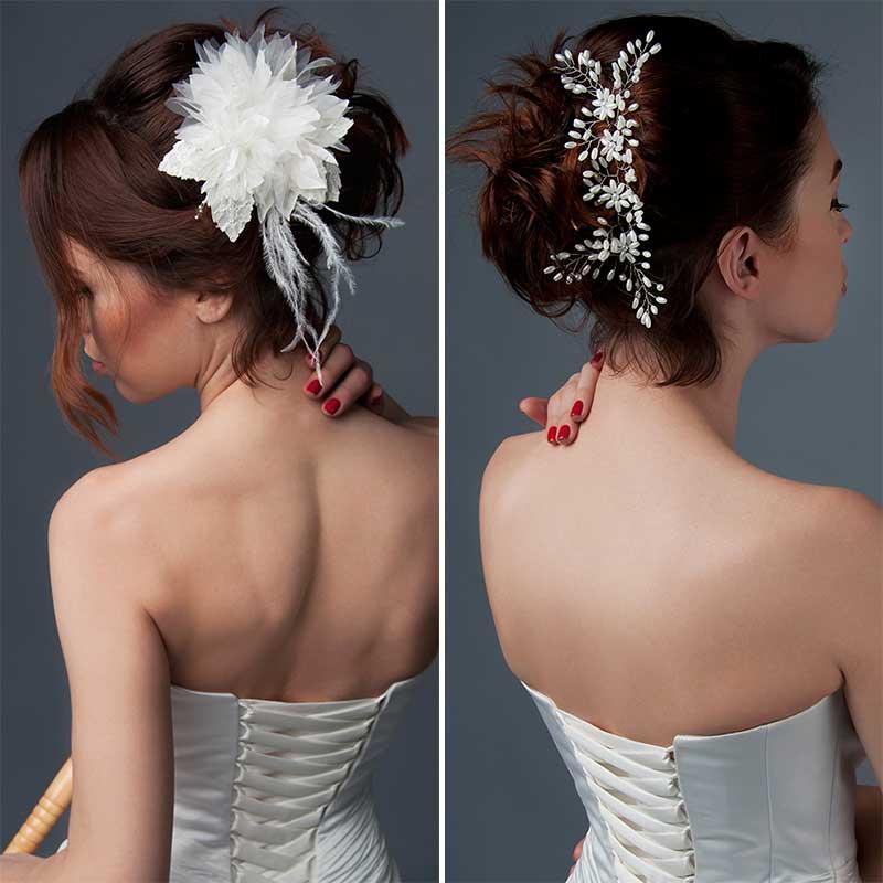 Colección peinado novia pelo corto