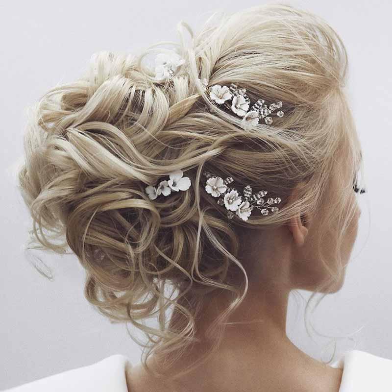 Peinados de novia pelo largo