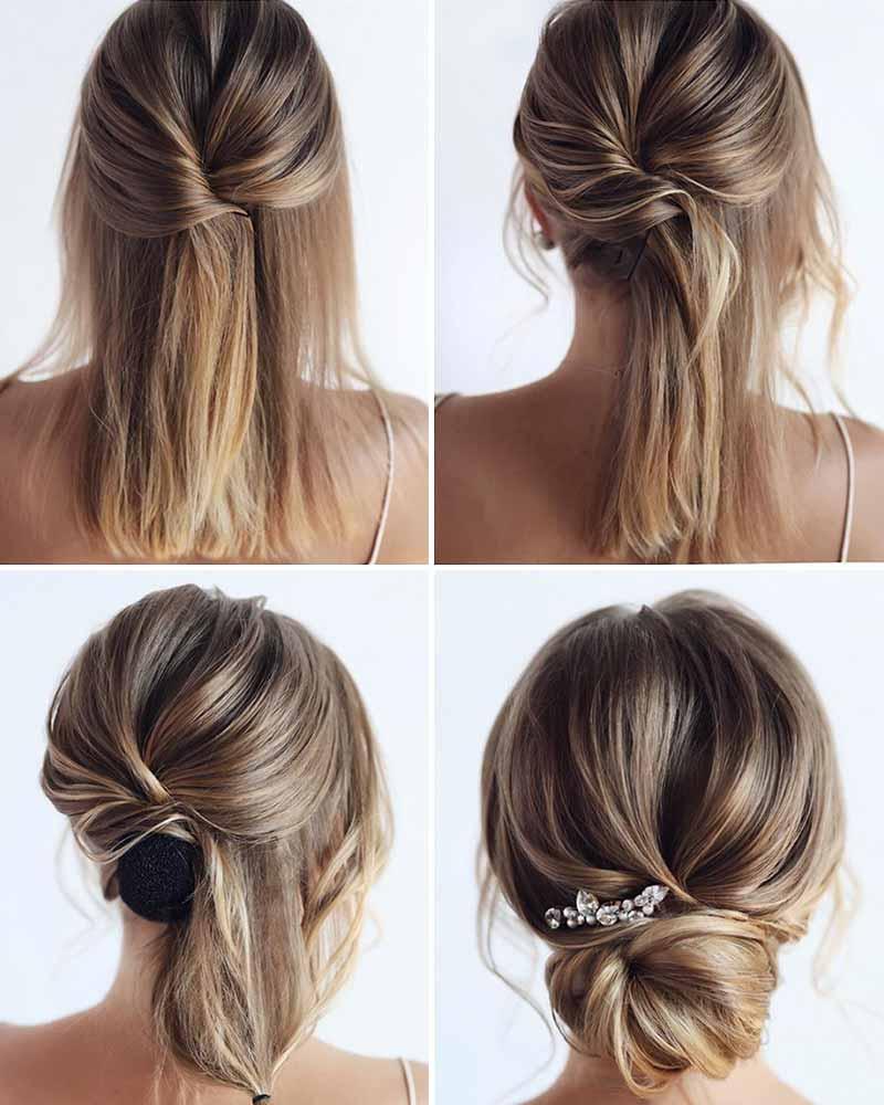 Tutorial peinado sencillo novia